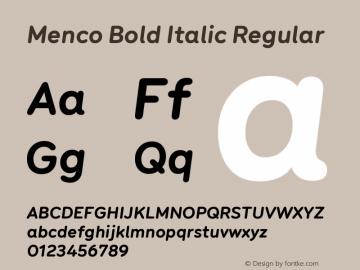Menco Bold Italic W00 Bold Italic Version 1.00图片样张
