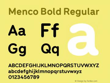 Menco Bold W00 Bold Version 1.00图片样张
