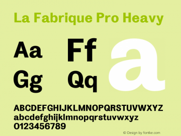 La Fabrique Heavy Version 2.001; ttfautohint (v1.5)图片样张