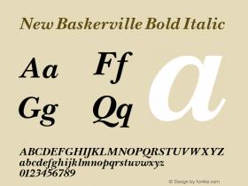 New Baskerville Bold Italic Altsys Fontographer 3.5  11/25/92 Font Sample