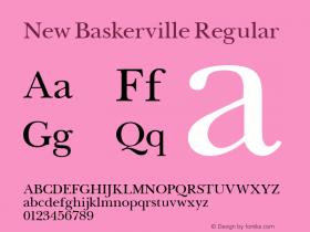New Baskerville Regular Altsys Fontographer 3.5  11/25/92 Font Sample