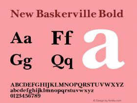 New Baskerville Bold Altsys Fontographer 3.5  11/25/92 Font Sample