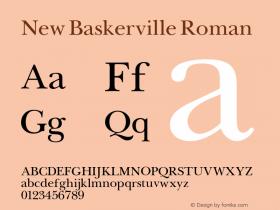 New Baskerville Roman 001.000 Font Sample