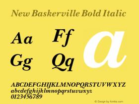 New Baskerville Bold Italic 001.000 Font Sample
