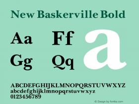 New Baskerville Bold 001.000 Font Sample