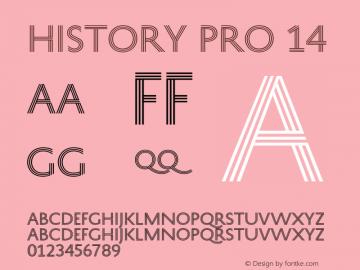 HistoryPro-Fourteen Version 1.0; 2013图片样张