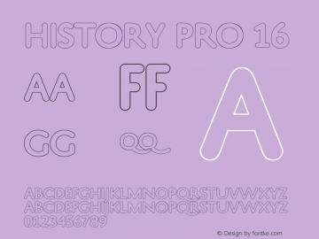 HistoryPro-Sixteen Version 1.0; 2013图片样张