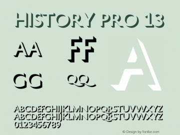HistoryPro-Thirteen Version 1.0; 2013图片样张