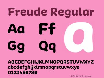 Freude-Regular Version 001.001图片样张
