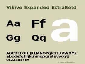 Vikive Expanded ExtraBold Version 1.00;July 28, 2018;FontCreator 11.5.0.2427 64-bit图片样张