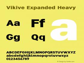 Vikive Expanded Heavy Version 1.00;July 28, 2018;FontCreator 11.5.0.2427 64-bit图片样张