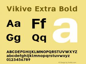 Vikive Extra Bold Version 1.00;July 27, 2018;FontCreator 11.5.0.2427 64-bit图片样张