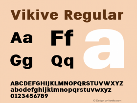 Vikive Version 1.00;July 27, 2018;FontCreator 11.5.0.2427 64-bit图片样张
