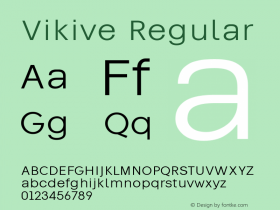 Vikive Version 1.00;July 28, 2018;FontCreator 11.5.0.2427 64-bit图片样张