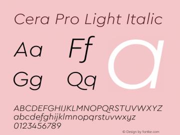 CeraPro-LightItalic Version 6.0 | wf-rip DC20180515图片样张