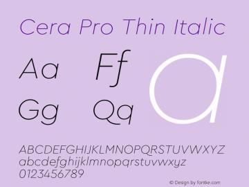 CeraPro-ThinItalic Version 6.0 | wf-rip DC20180515图片样张