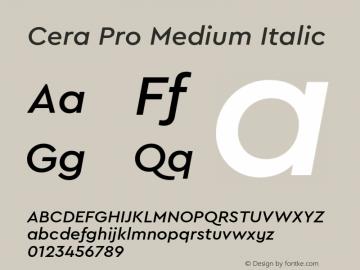 CeraPro-MediumItalic Version 6.0 | wf-rip DC20180515图片样张