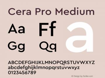 CeraPro-Medium Version 6.0 | wf-rip DC20180515图片样张