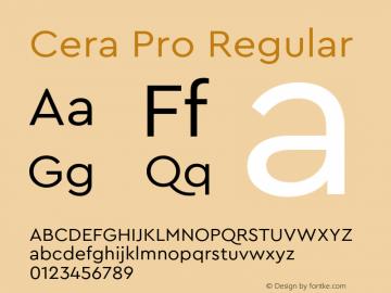CeraPro-Regular Version 6.0 | wf-rip DC20180515图片样张