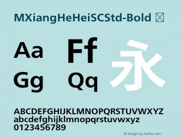 ☞M XiangHe Hei SC Std Bold Version 1.00;com.myfonts.easy.mti.m-xianghe-hei-sc-std.Bold.wfkit2.version.5bfk图片样张