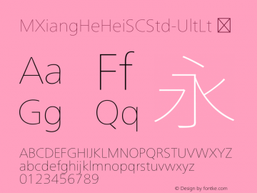 ☞M XiangHe Hei SC Std UltLt Version 1.00;com.myfonts.easy.mti.m-xianghe-hei-sc-std.ultra-light.wfkit2.version.5bfn图片样张