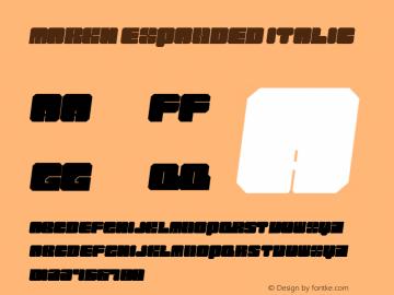 Markh Expanded Italic Version 1.000图片样张