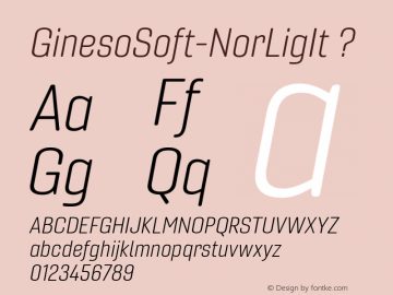 ☞Gineso Soft Norm Light Italic Version Version 1.001;com.myfonts.easy.insigne.gineso-soft.normal-light-italic.wfkit2.version.5cSo图片样张