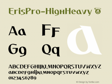 ☞Eris Pro HighHeavy Version 1.000;com.myfonts.easy.dbsv-moulding-ideas.eris-pro.heavy.wfkit2.version.5cY8图片样张