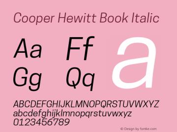 CooperHewitt-BookItalic 1.000图片样张