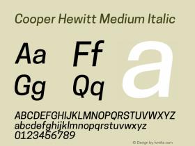 CooperHewitt-MediumItalic 1.000图片样张