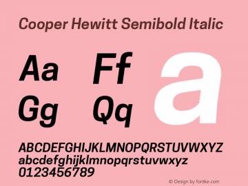 CooperHewitt-SemiboldItalic 1.000图片样张