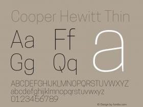 CooperHewitt-Thin 1.000图片样张
