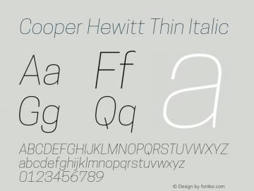 CooperHewitt-ThinItalic 1.000图片样张