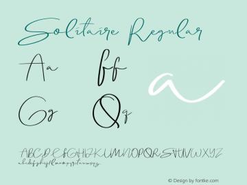 Solitaire Version 1.000;PS 001.001;hotconv 1.0.56图片样张