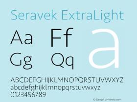 Seravek ExtraLight Version 2.000;PS 1.0;hotconv 16.6.54;makeotf.lib2.5.65590图片样张