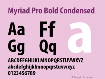 Myriad Pro Font,MyriadPro-BoldCond Font,Myriad Pro Cond Font
