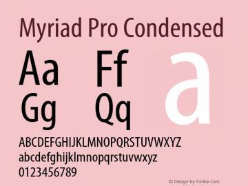 Myriad Pro Font,MyriadPro-Cond Font,Myriad Pro Cond Font