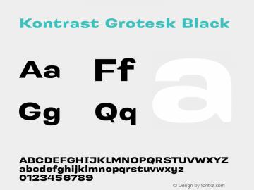 Kontrast Grotesk Black Version 1.000 Font Sample