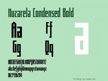 Muzarela-CondensedBold Version 1.000图片样张