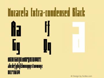 Muzarela-ExtracondensedBlack Version 1.000图片样张
