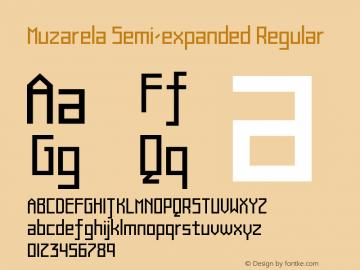 Muzarela-SemiexpandedRegular Version 1.000图片样张
