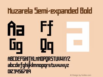 Muzarela-SemiexpandedBold Version 1.000图片样张