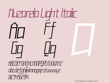 Muzarela-LightItalic Version 1.000图片样张