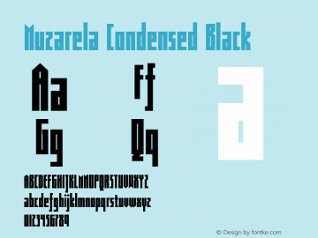 Muzarela-CondensedBlack Version 1.000图片样张