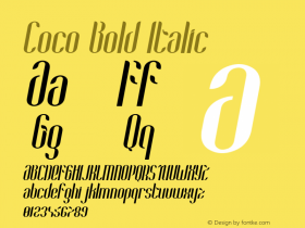 Coco-BoldItalic Version 1.000;PS 001.001;hotconv 1.0.56图片样张