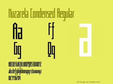 Muzarela-CondensedRegular Version 1.000图片样张