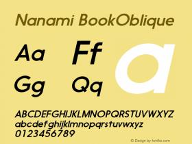 Nanami-BookOblique Version 1.000图片样张