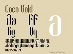 Coco-Bold Version 1.000;PS 001.001;hotconv 1.0.56图片样张