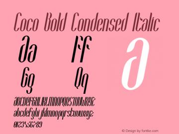 Coco-BoldCondensedItalic Version 1.000;PS 001.001;hotconv 1.0.56图片样张