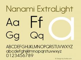 Nanami-ExtraLight Version 1.000图片样张